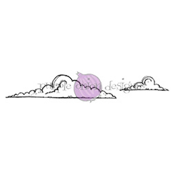 Purple Onion Designs CLOUDS Cling Stamp pod1025