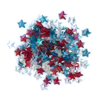 Buttons Galore and More Sparkletz PATRIOTIC STARS Embellishments SPK120