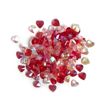 Buttons Galore and More Sparkletz LOVE HEARTS Embellishments SPK117