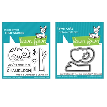 Lawn Fawn SET ONE IN A CHAMELEON Clear Stamps and Dies MLFOIC