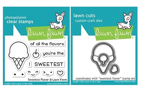 Lawn Fawn SET SWEETEST FLAVORS Clear Stamps and Dies MLFSF Preview Image