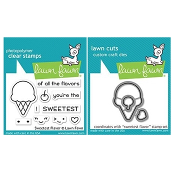Lawn Fawn SET SWEETEST FLAVORS Clear Stamps and Dies MLFSF
