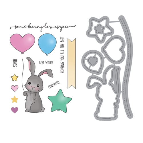 Maker's Movement SOME BUNNY LOVES YOU Stamp & Die Set msd209 Preview Image