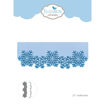 Elizabeth Craft Designs SNOWFLAKE BORDER Craft Dies 1572*