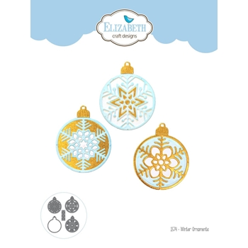 Elizabeth Craft Designs WINTER ORNAMENTS Craft Dies 1574*