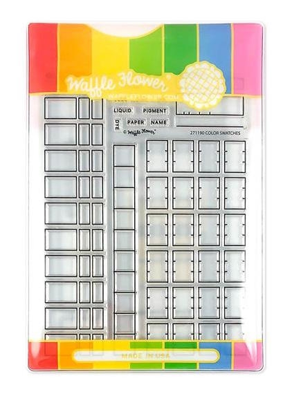 Waffle Flower COLOR SWATCHES COMBO Clear Stamps and Die Combo WFC190 zoom image