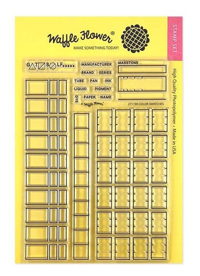 Waffle Flower COLOR SWATCHES Clear Stamps 271190 zoom image