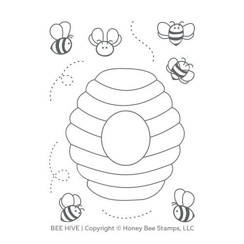 Honey Bee BEE HIVE Clear Stamp Set hbst-121 Preview Image