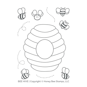 Honey Bee HIVE Clear Stamp Set hbst-121