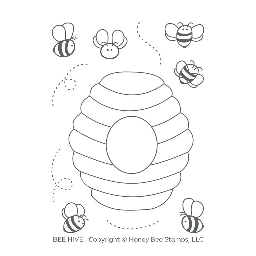 Honey Bee BEE HIVE Clear Stamp Set hbst-121 zoom image