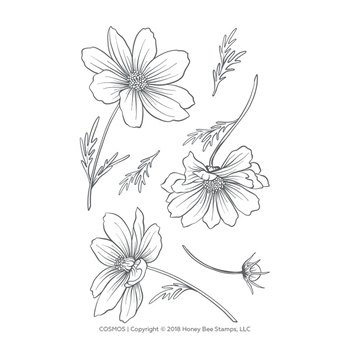Honey Bee COSMOS Clear Stamp Set hbst-124