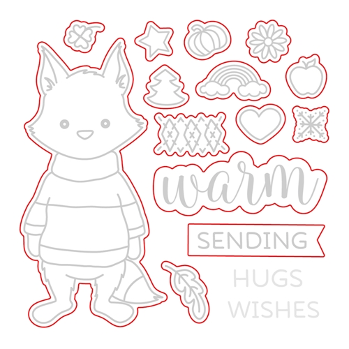 Honey Bee Warm Wishes Die Set
