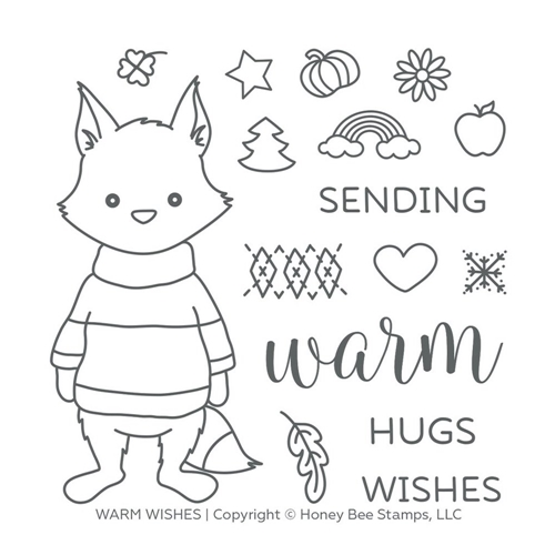 Honey Bee WARM WISHES Clear Stamp Set hbst-125 Preview Image