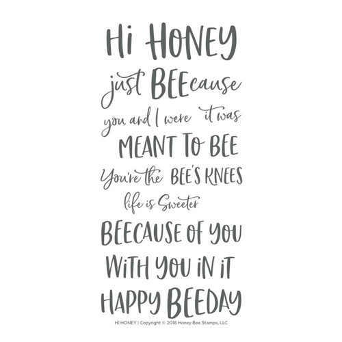 Honey Bee HI HONEY Clear Stamp Set hbst-128 Preview Image