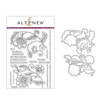 Altenew NEEDLEWORK MOTIF Clear Stamp and Die Set ALT2444