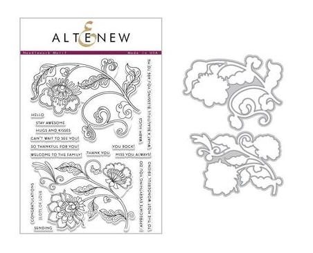 Altenew NEEDLEWORK MOTIF Clear Stamp and Die Set ALT2444 zoom image