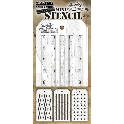 Tim Holtz Shifters MINI STENCIL SET 36 MST036 Preview Image
