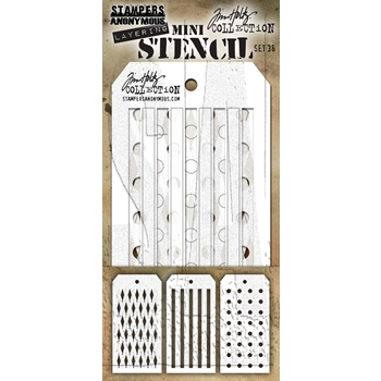 Tim Holtz Shifters MINI STENCIL SET 36 MST036