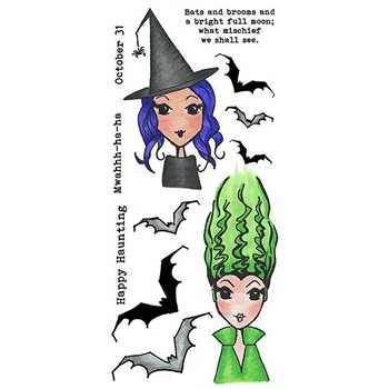 Inky Antics HAPPY HAUNTING Clear Stamp Set 11415lc*