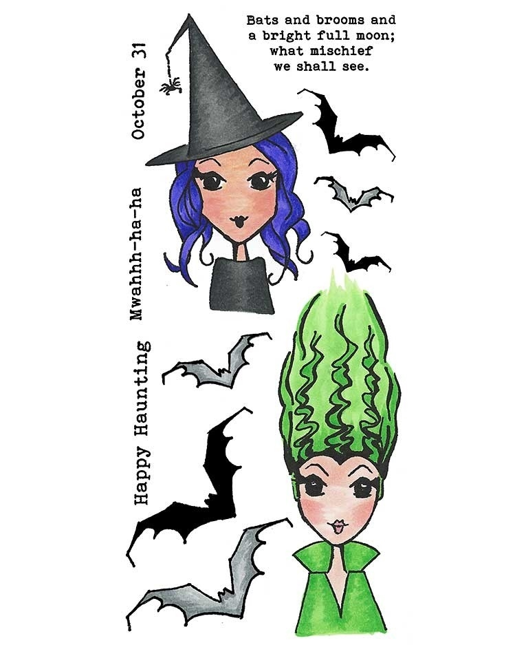 Inky Antics HAPPY HAUNTING Clear Stamp Set 11415lc* zoom image