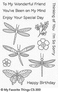My Favorite Things FLUTTERING FRIENDS Clear Stamps CS300