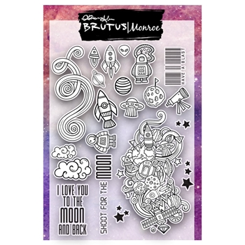 Brutus Monroe Clear Stamps OUTER SPACE bru8135