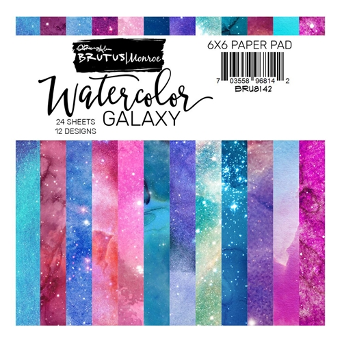 Brutus Monroe Watercolor Galaxy 6x6 Paper Pack