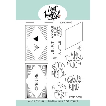 Neat and Tangled THANKS SO MUCH Clear Stamps NAT410*