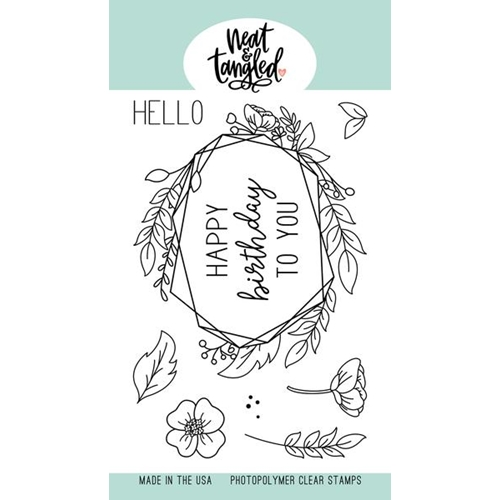 Neat and Tangled FLORAL FRAME Clear Stamps NAT405 Preview Image