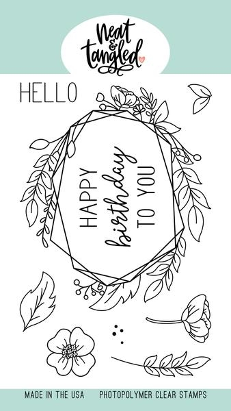 Neat and Tangled FLORAL FRAME Clear Stamps NAT405 zoom image
