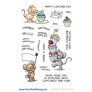 Your Next Stamp CUPCAKE DAY Clear cyns662*