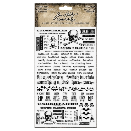 Tim Holtz Idea-ology HALLOWEEN Remnant Rubs th93722 Preview Image