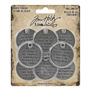 Tim Holtz Idea-ology HALLOWEEN Quote Tokens th93733