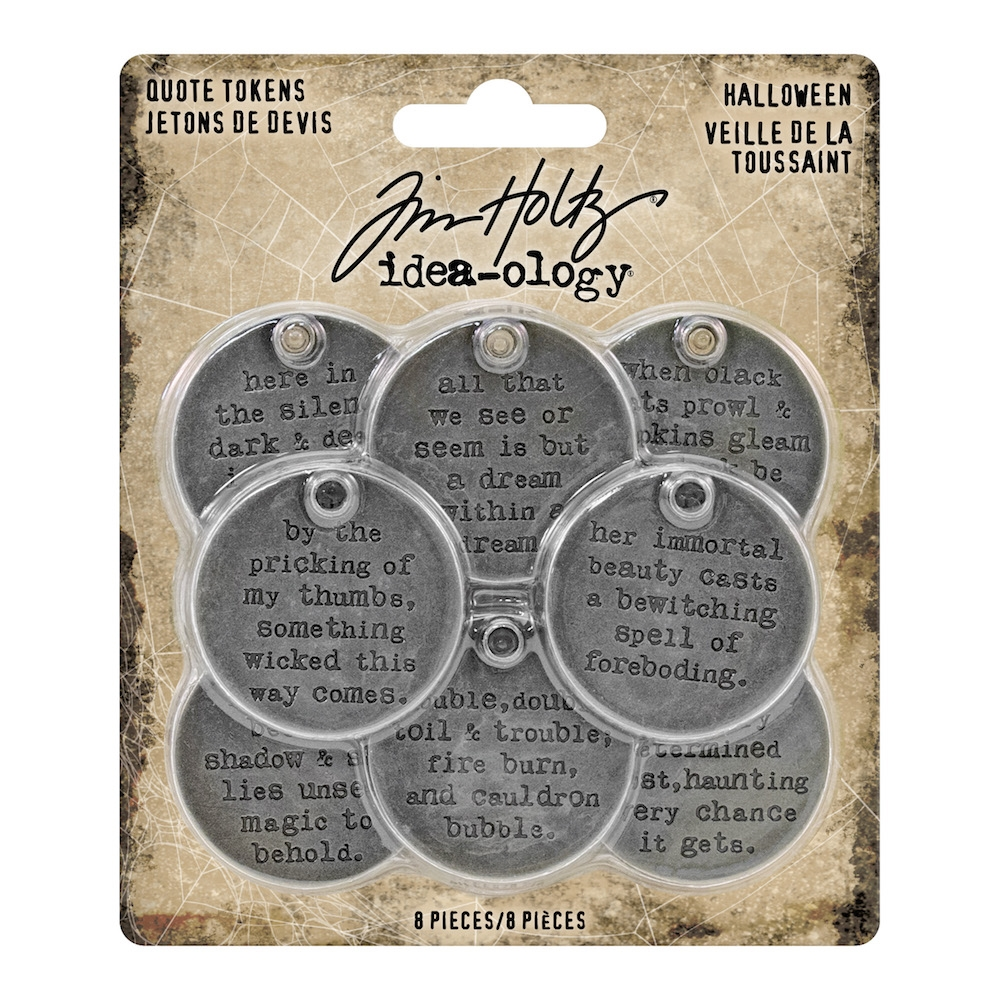 Tim Holtz Idea-ology HALLOWEEN Quote Tokens th93733 zoom image