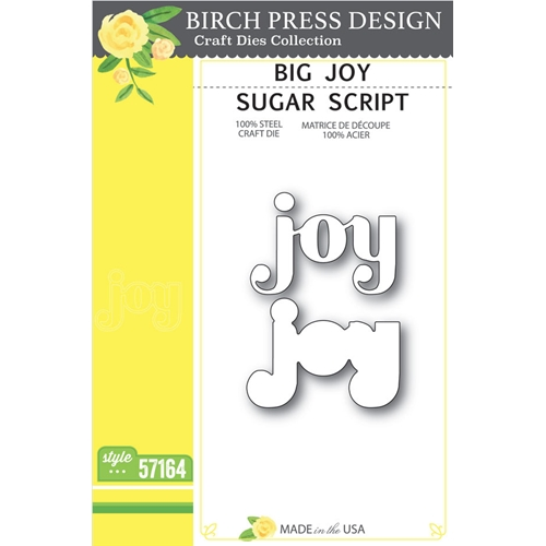 Birch Press Design BIG JOY SUGAR SCRIPT Craft Dies 57164 Preview Image