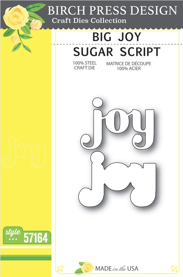 Birch Press Design BIG JOY SUGAR SCRIPT Craft Dies 57164 zoom image