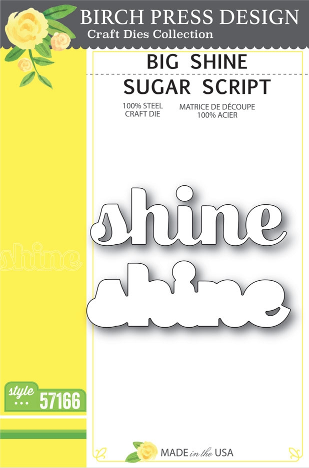 Birch Press Design BIG SHINE SUGAR SCRIPT Craft Dies 57166 zoom image