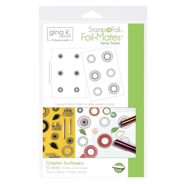 Therm O Web Gina K Designs GRAPHIC SUNFLOWERS Foil-Mates 18103 zoom image