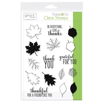 Therm O Web Gina K Designs THANKFUL LEAVES Clear Stamps 18106
