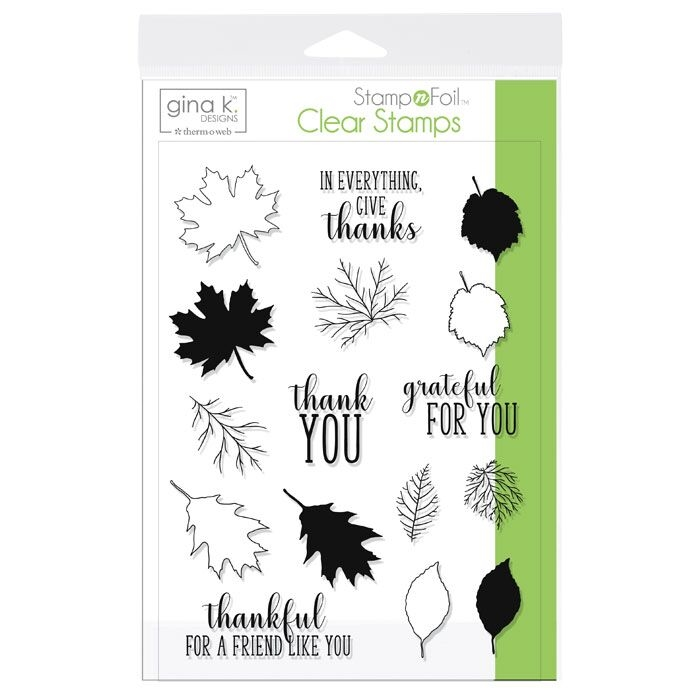 Therm O Web Gina K Designs THANKFUL LEAVES Clear Stamps 18106 zoom image