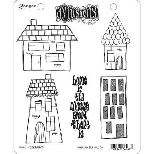 Dyan Reaveley HOME Stamp Set Dylusions Cling Unmounted Rubber DYR64671 Preview Image