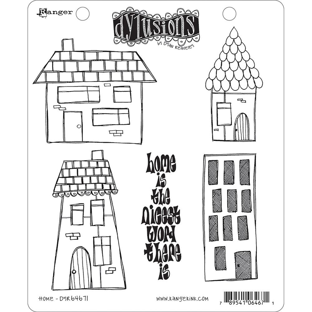 Dyan Reaveley HOME Stamp Set Dylusions Cling Unmounted Rubber DYR64671 zoom image