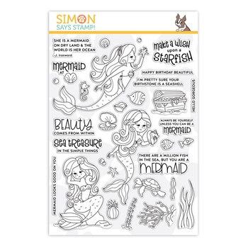 Simon Says Clear Stamps BEAUTIFUL MERMAIDS sss101911 *