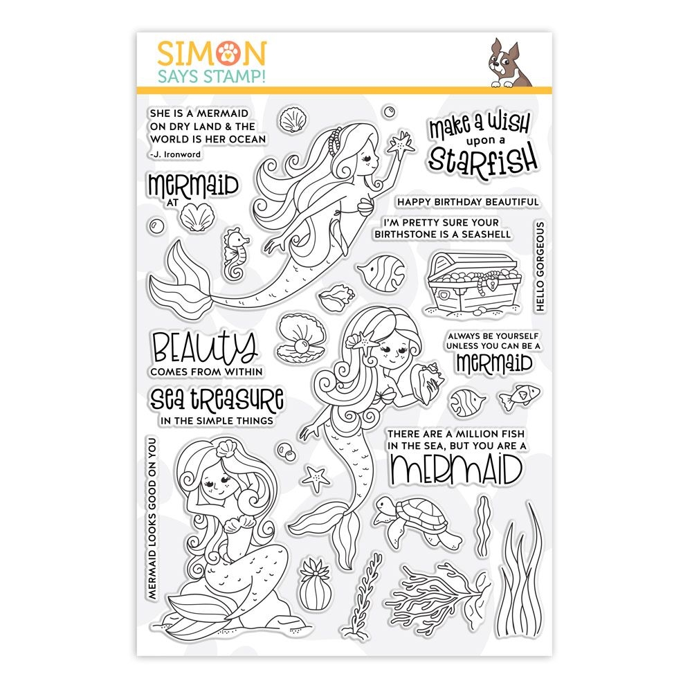 Simon Says Clear Stamps BEAUTIFUL MERMAIDS sss101911 * zoom image