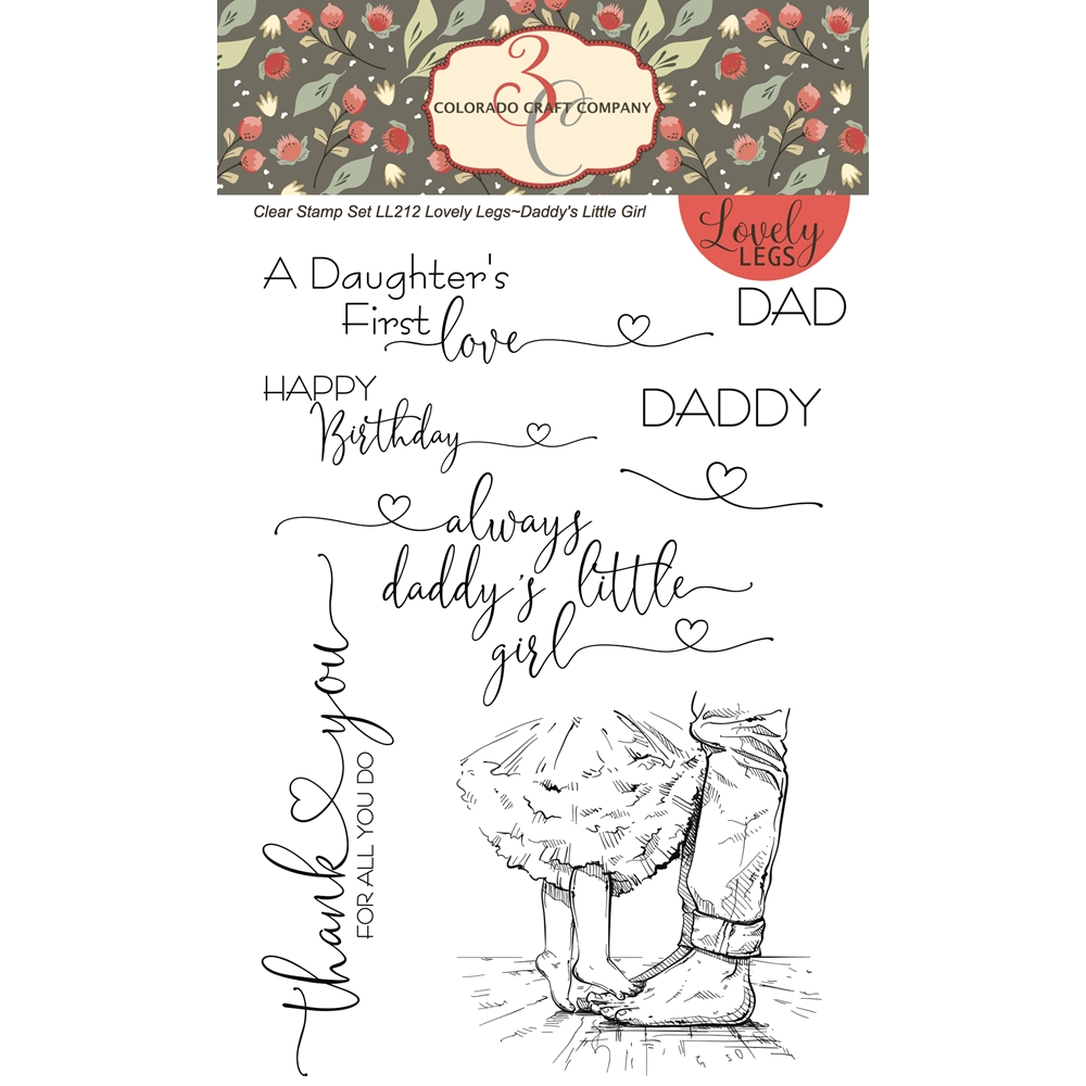 Colorado Craft Company Lovely Legs Daddy's Girl Clear Stamp Set