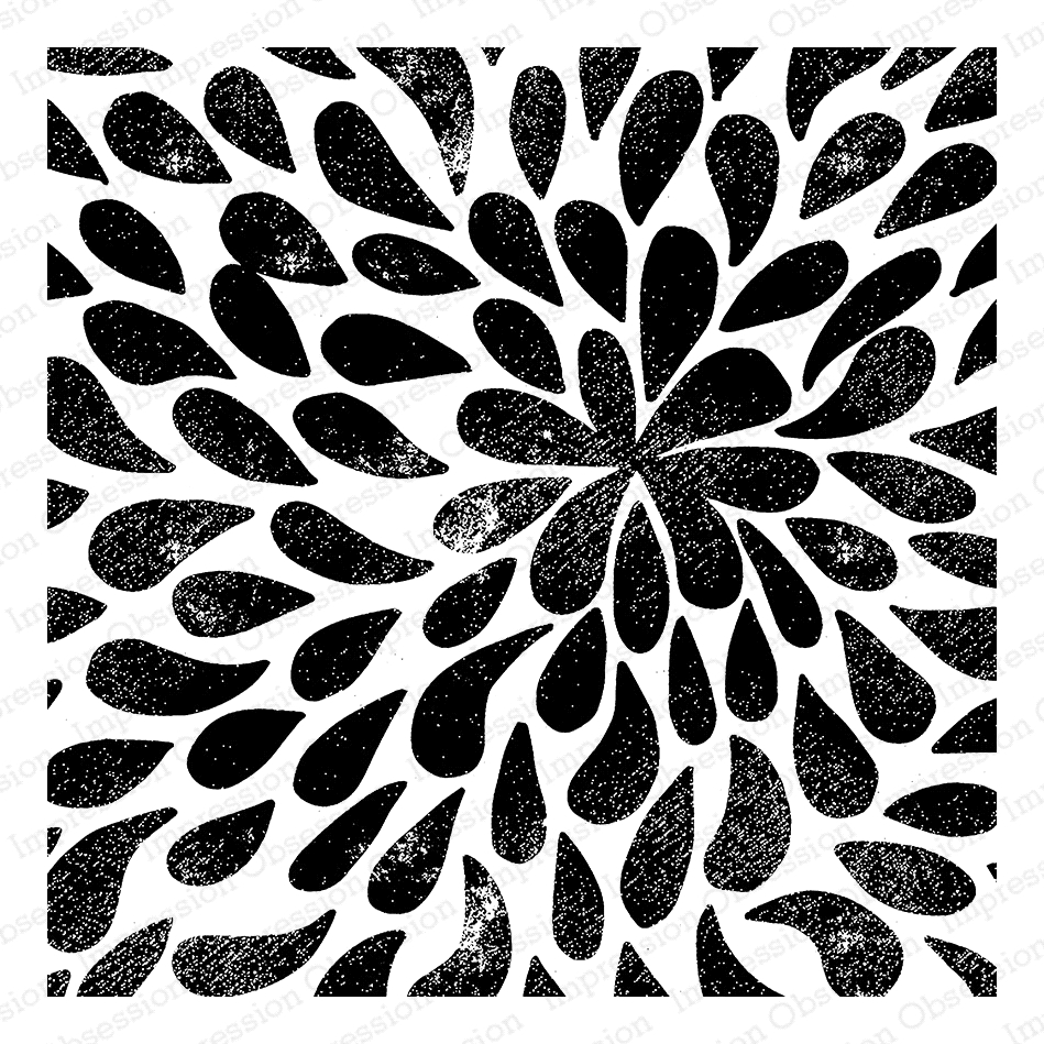 Impression Obsession Cling Stamp SPLASH Create A Card CC328 zoom image