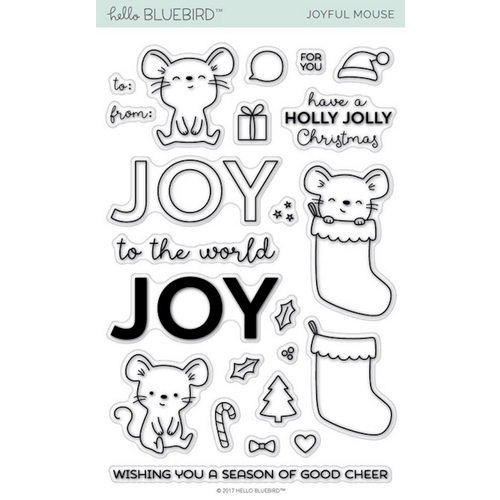 Hello Bluebird Joyful Mouse Clear Stamp Set