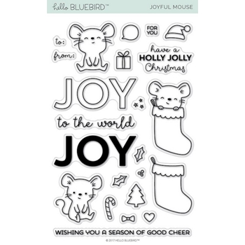 Hello Bluebird JOYFUL MOUSE Clear Stamps hb2019