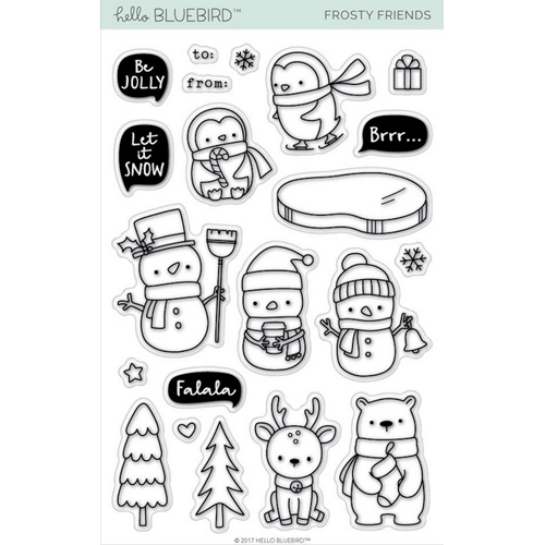 Hello Bluebird FROSTY FRIENDS Clear Stamps hb2082 Preview Image