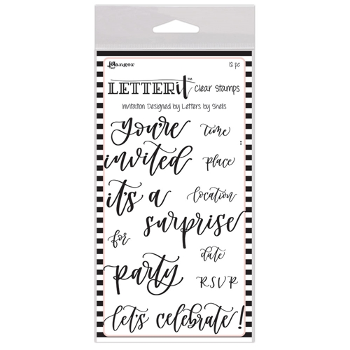 Ranger INVITATION Letter It Stamp Set lec63100 Preview Image